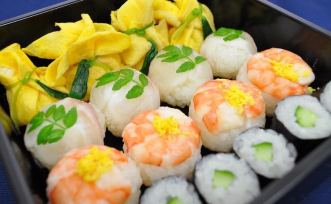 白みそ酢の手毬寿司4